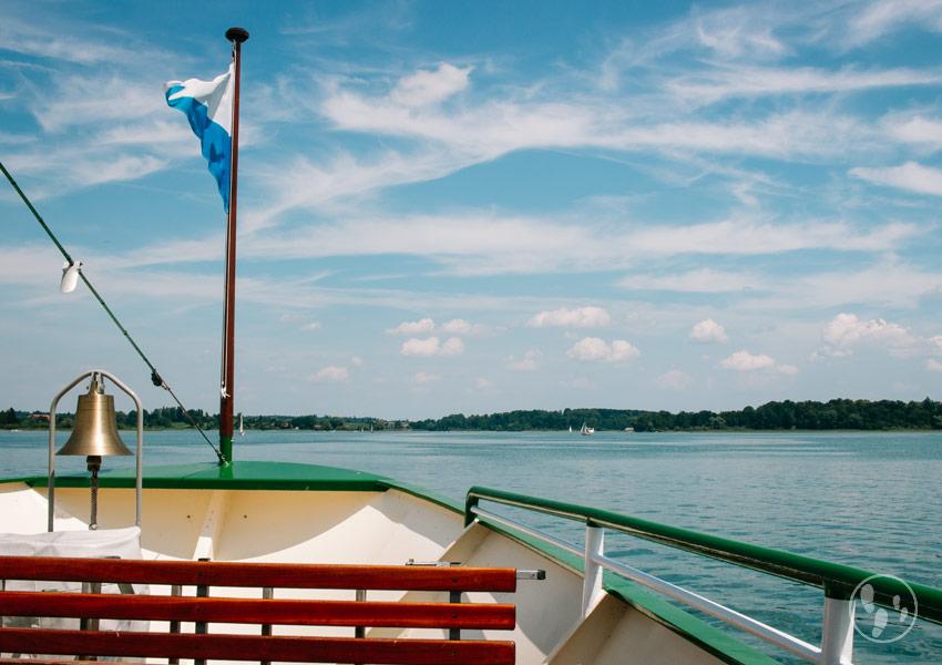 Bootsfahrt auf dem Chiemsee zur Herreninsel
