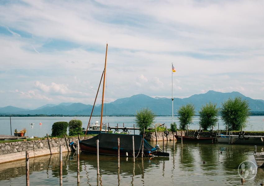 Segelboot an der Fraueninsel