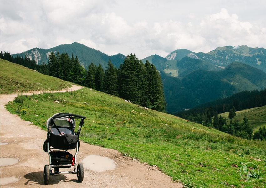 Wanderung auf die Obere Firstalm mit Kinderwagen