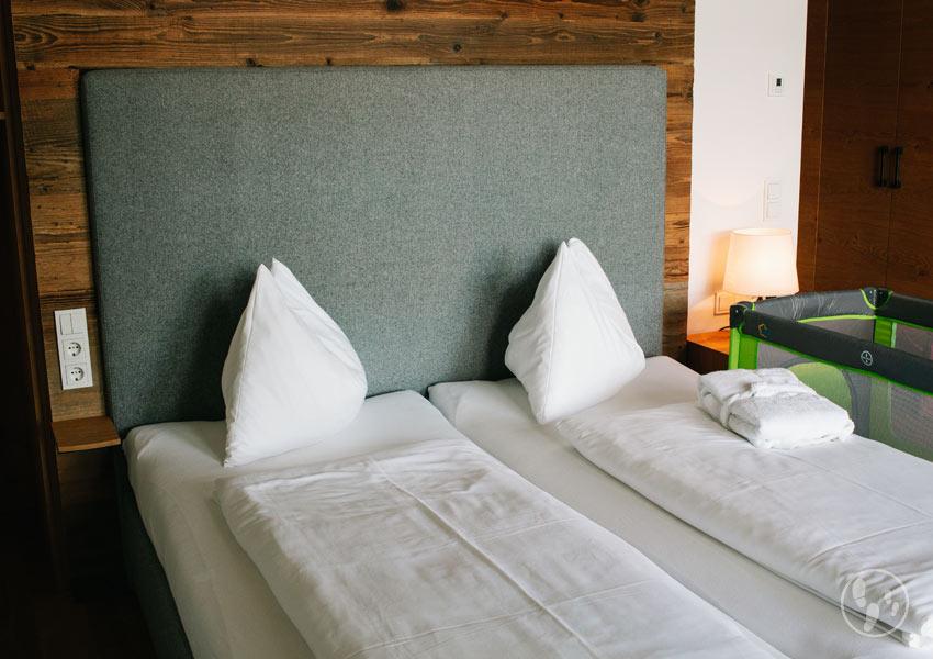 Suite im Hotel Puradies beim Urlaub mit Baby in Leogang