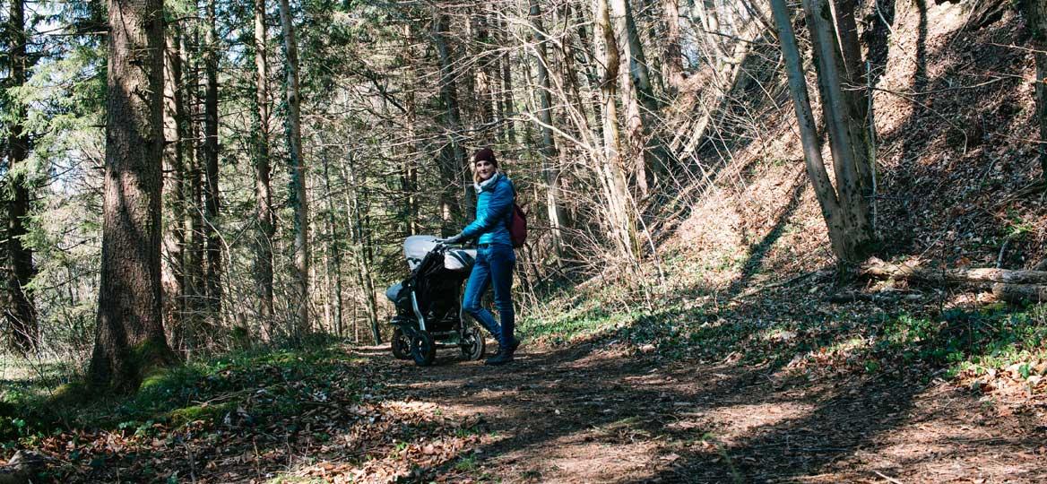 Kinderwagenwanderung an der Mangfall