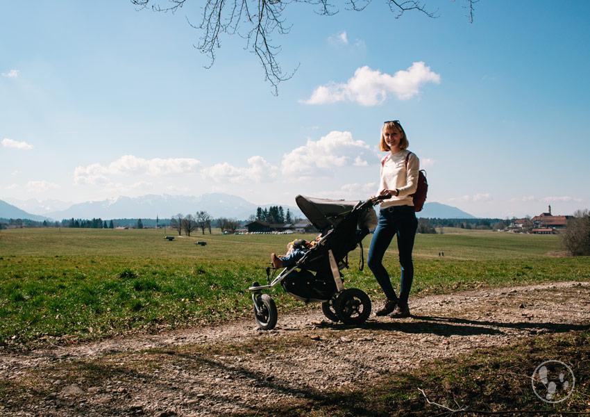 Sachsenkamer Rundweg mit Kinderwagen