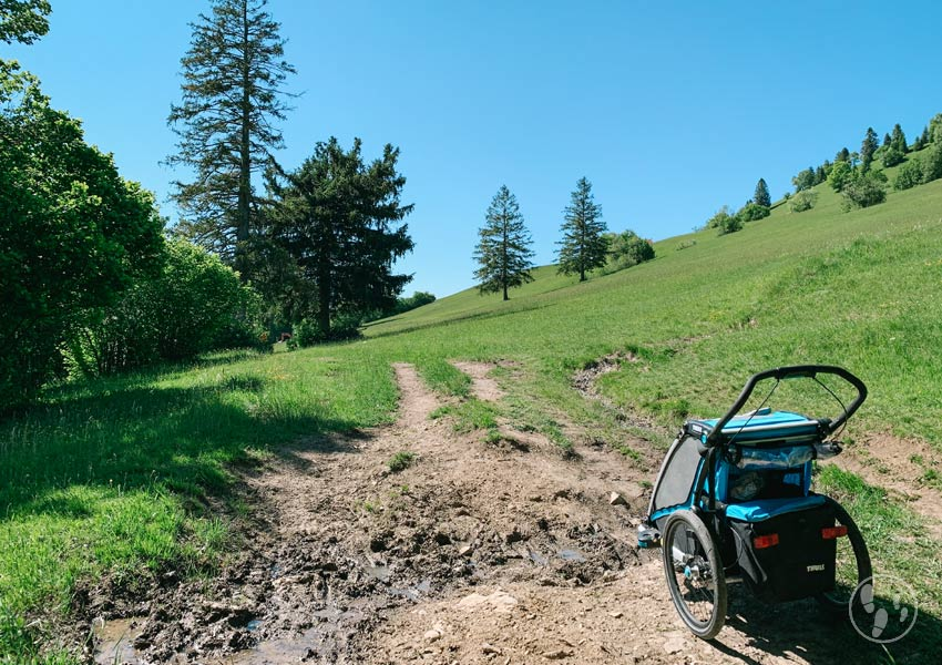 Wandern mit Thule Chariot