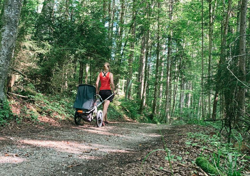 Mangfall Wanderung mit Kinderwagen