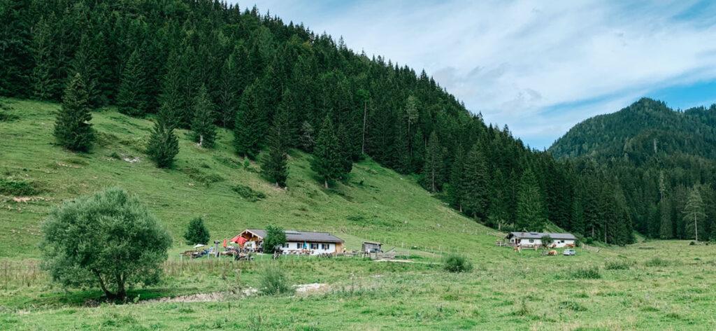 Chiemgau: Zur Dandlalm mit Kinderwagen