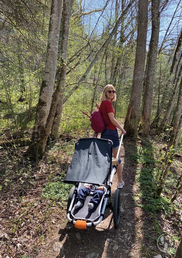 Wandern mit Hike Kid im Sommer