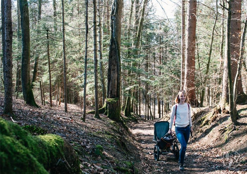 Wandern mit Hike Kid Kinderwagen
