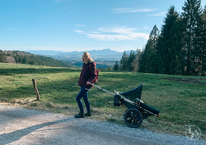 Wandern mit Hike Kid am Taubenberg