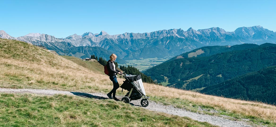 Leos Spielewanderweg mit Kinderwagen