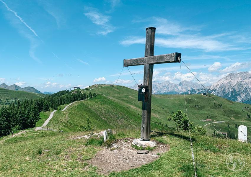 Gipfelkreuz am Scharberkogel