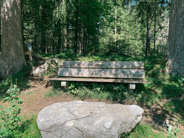 Picknickbank im Fischbachauer Märchenwald